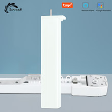 Loonas Tuya Smart WiFi Curtain Motor system Customized Electric Curtains Track with RF Remote Alexa and Google Assistant Control