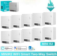 Sonoff Mini R2 DIY Wifi Smart Switch Timer Wireless Switches Smart Home Automation Compatible with eWelink Alexa Google Home