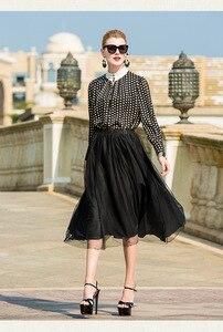 Image 1 - نصف تنورة بيضاء نقية طبقة مزدوجة تنورة غير النظامية التصميم الأصلي الخريف الكتان المرأة فستان