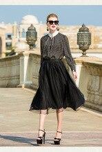 Half skirt pure white double layer irregular skirt original design autumn linen womens dress
