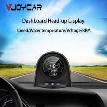 업데이트 된 OBD2 온보드 컴퓨터 HUD 헤드 업 디스플레이 디지털 자동차 속도계 전압 냉각수 온도 주행 속도 KM/H MPH