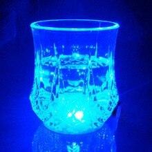 PREUP светодиодный светящийся стакан-7 унций многоцветный светящийся светодиодный бокал для вина, кружка датчик воды вспышка света Жидкая активированная мигающая чашка клуб