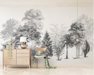 CJSIR Costom обои панно черный и белый эскиз стиль абстрактный современный ТВ фон стены 3d обои Papel де Parede