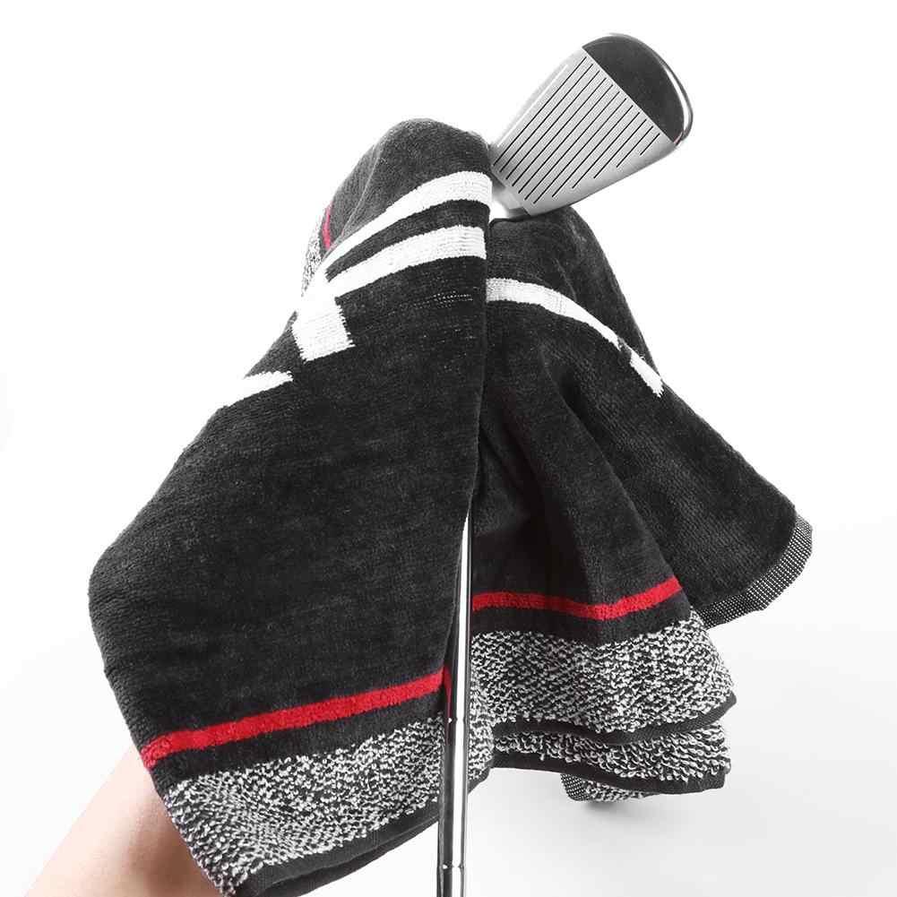 Baumwolle Golf Reinigung Komfortable Weiche Sport Hand Handtuch Waschlappen mit Sling Halter Golf Trainning Liefert Reinigung Golf clubs