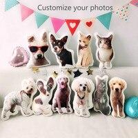DIY собака подушка фото на заказ креативная подушка 3D на заказ Милая Лежанка для котиков Рождественский подарок на день рождения подушка для ...