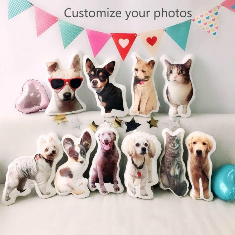 DIY Dog Pillow Photo Custom Creative Cushion 3D Custom Cute Cat Cushion Christmas Birthday Gift Pet Pillow Custom Souvenir