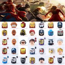 Zabawki Marvel bohater Avengers Iron Man SpiderMan kapitan ameryka Thor Thanos figurka klocki dla dzieci dla dzieci przyjaciół tanie tanio Unisex 6 lat Mały budynek blok (kompatybilne z Lego) Certyfikat BLOCKS Can not eat Z tworzywa sztucznego Samozamykajcy cegły