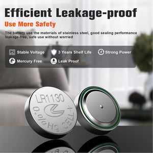 Image 3 - 20Pcs/2Card  PKCELL 1.5V AG10 389 LR54 SR54 SR1130W 189 SB BU L1130 1130  LR1130 Button Alkaline Cell Coin thermometer Battery