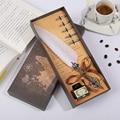 Винтажное красивое гусиное перо ручка Роскошная игра Гарри Поттер ручка классическая ручка каллиграфия перо ручка письмо подарочная короб...
