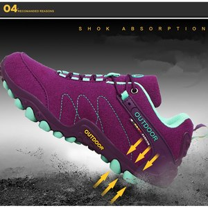 Image 4 - VEAMORS Men Outdoor Hiking Shoes Women Casual Jogging Sneakers Non slip Durable Tourism Camping Climbing Shoes Unisex