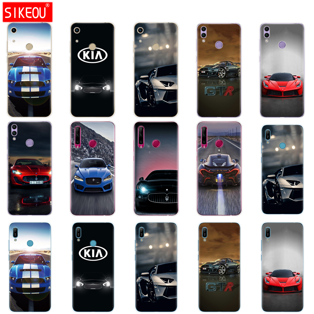 >Case For Huawei Honor 8A PRO 8C 8X 10 i play case back cover for huawei Y5 Y6 Y7 Y9 2019 pro Prime <font><b>sports</b></font> <font><b>racing</b></font> <font><b>Cars</b></font> luxury