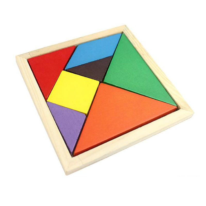 Free Shipping KIDS Wooden Montessori Teaching AIDS Puzzle, Children's Educational Toys Puzzle 4PCS Intelligence Building Toys