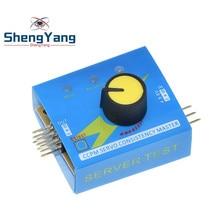 ShengYang – testeur de Servo d'engrenage CCPM, vérificateur principal de consistance 3CH 4.8-6V avec voyant lumineux