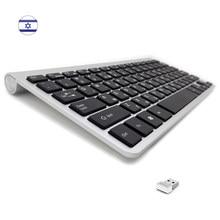 Lsrael hebraico teclado sem fio portátil ultra fino 2.4g tamanho compacto de baixo nível ruído para computador portátil desktop windows android caixa