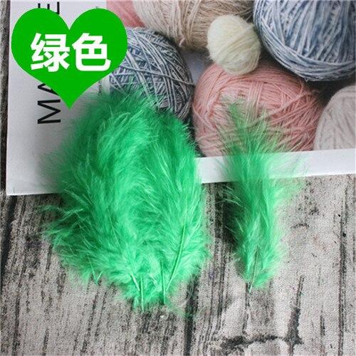 Натуральные Шлейфы 50 шт. 4-6 дюймов 10-15 см индейка перья марабу шлейф пышное свадебное платье DIY украшения аксессуары перья - Цвет: Green