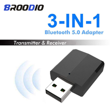 цена на Bluetooth 5.0 Audio Receiver Transmitter Mini Stereo 3.5mm Jack AUX USB Bluetooth 3 IN 1 Music Wireless Adapter For TV PC Car