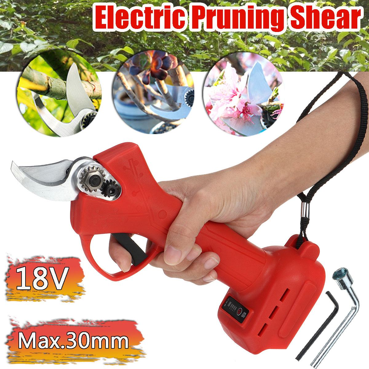 18V Cordless Electric Pruning Shears Fruit Tree Pruning Tool Secateur Without Battery Branch Cutter for Makita 18V Battery
