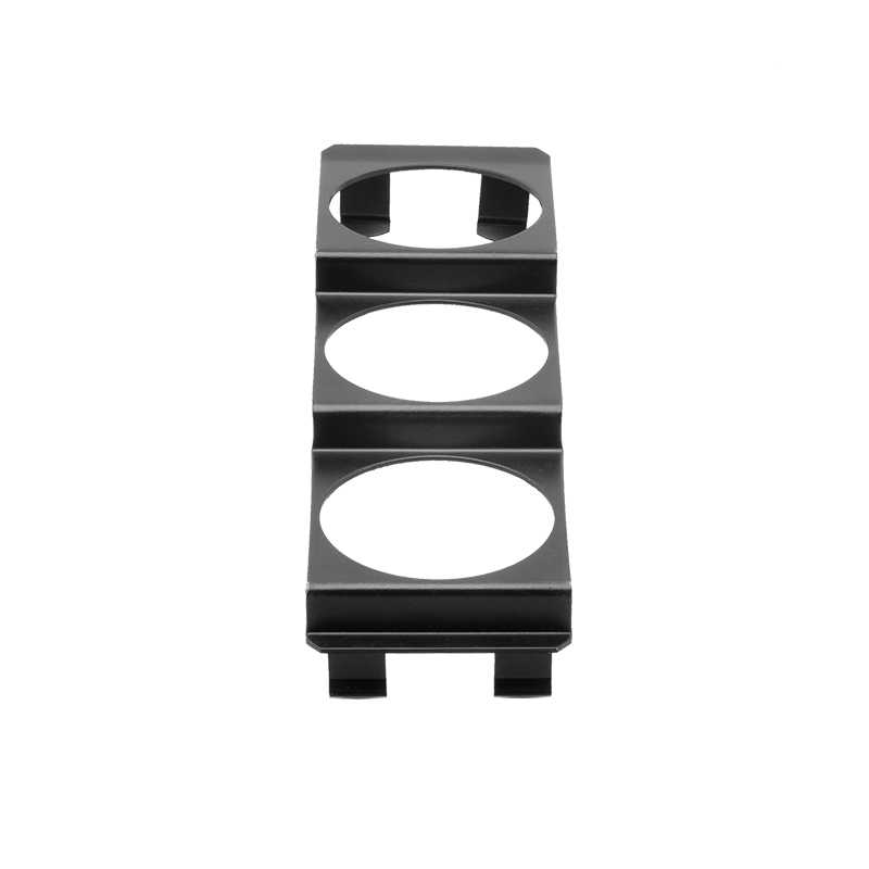 Iron Car Dashboard Meter Mounting Bracket Black Gauge Bracket Holder,52mm 3-Hole Triple Instrument Panel Shell Gauge