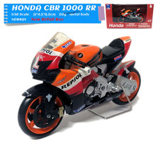 NEWRAY 1/18 Scale Racing Motorbike HONDA CBR 1000 RR Repsol Diecast Metal Motorcycle Model Toy For Collection,Gift,Kids стоимость