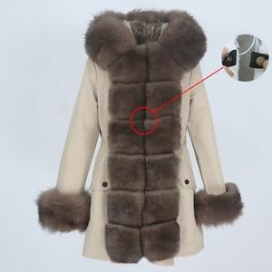 Image 2 - OFTBUY Waterproof Long Parka Winter Jacket Women Real Fur Coat Natural Fox Fur Collar Hood Thick Warm Streetwear Detachable New