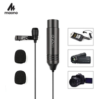 MAONO XLR Lavalier Microphone Omnidirectional Condenser Microphone Clip on Lapel Mic for DSLR Camera Camcorders Voice Recorders