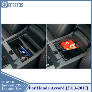 Image 3 - For Honda Accord Accessories Car Front Door Storage Box Organizer Cover Interior Trim 2013 2014 2015 2016 2017 2017 Styling
