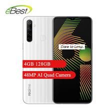 Realme 6i Smartphone 4GB 128GB 6 5 cala Helio G80 Octa Core 48MP AI Quad Camera 5000mAh bateria Smartphone tanie tanio Nie odpinany Nowy Android Rozpoznawania linii papilarnych Rozpoznawania twarzy Inne Adaptacyjne szybkie ładowanie Smartfony
