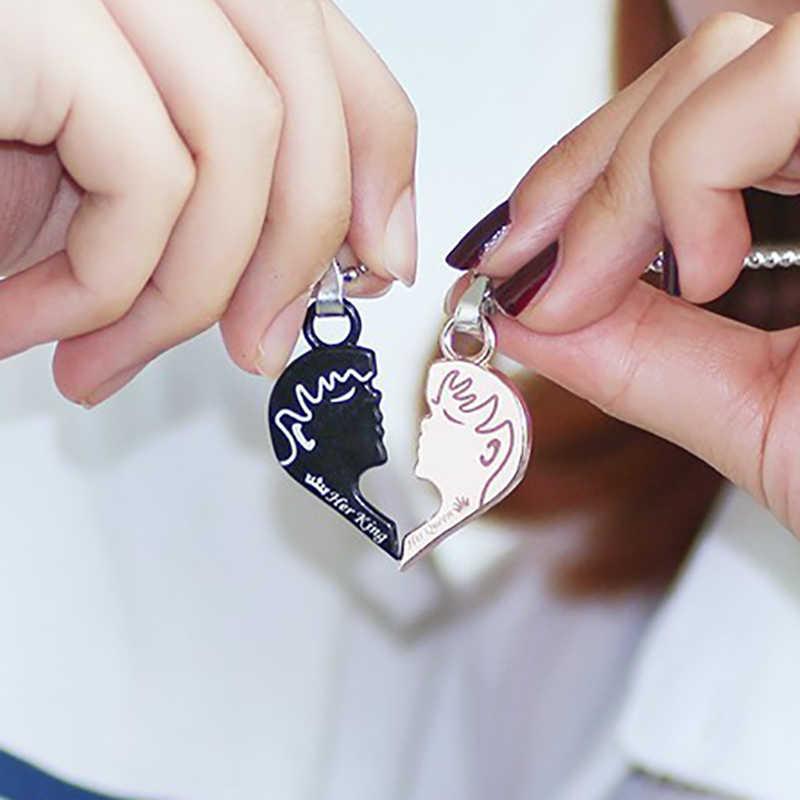 2019 2 Cái/bộ Thái Cực Người Bạn Thân Nhất Vòng Đeo Cổ Cho Nữ Trái Tim Ghép Hình Thái Cổ Dành Cho Cặp Đôi Tình Bạn Mãi Mãi BFF bộ Trang Sức