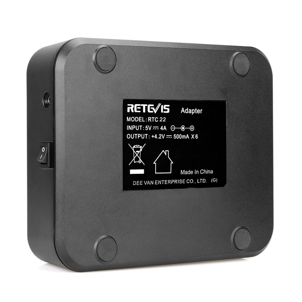 Retevis RTC 22 two-way radio safety high standard rechargeable six-way interphone charger