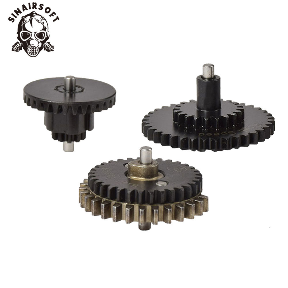 New BD High Quality CNC 16: 1 High Speed Flat Gear Set For Ver.2 / 3 AEG Airsoft Gearbox Hunting Paintball Shooting