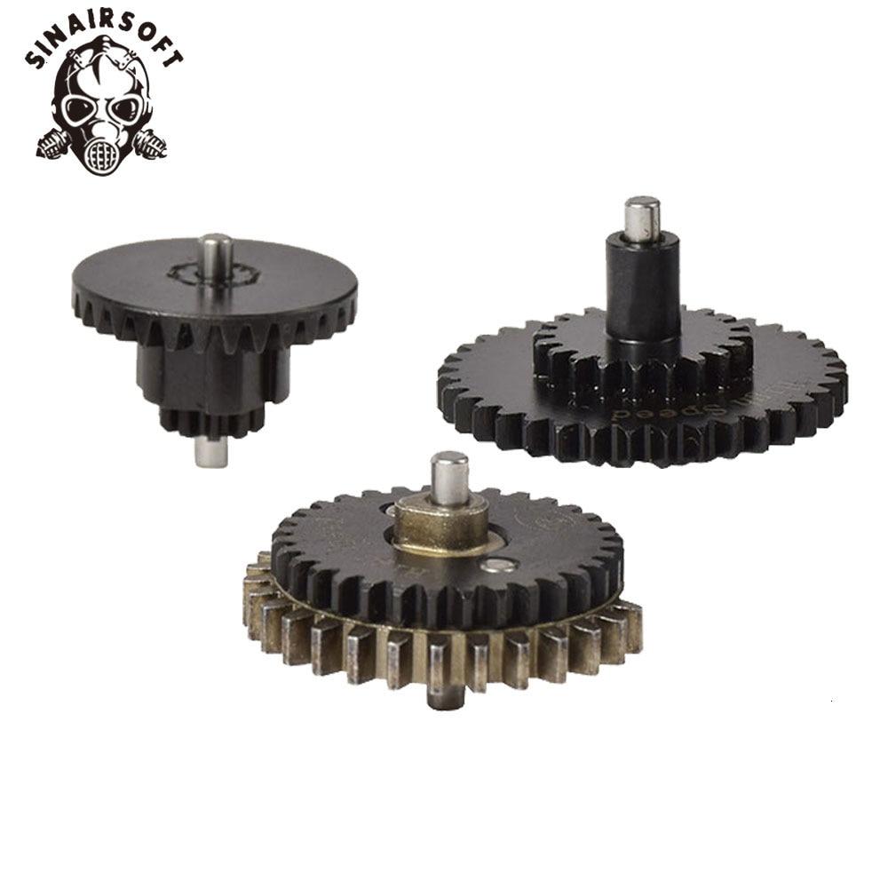 Juego de engranajes planos de alta velocidad para caza y Paintball, CNC 16: 1 de BD de alta calidad, para modelos Ver.2 / 3 AEG Airsoft