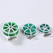 328 футов завод твист галстук с резцом Прочный Зеленый покрытый провод для садоводства домашнего офиса многоразовые провода кабель с слайсером