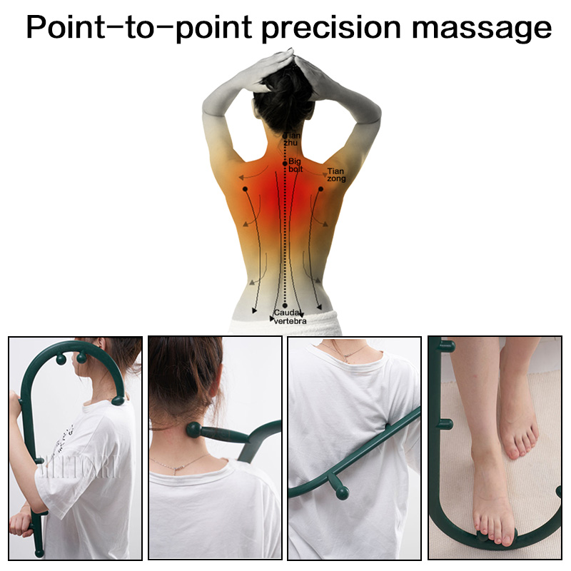 Image 3 - Trigger Point Self Massager Stick Theracane Body Muscle Relief Back Massage Hook Thera Cane Therapeutic Relaxation Pressure ToolMassage Stick   -