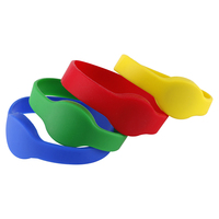 50PCS 125KHZ TK4100 EM4100 RFID Bracelet Silicone Card Wristband is in access control yellow silicone wristband access card