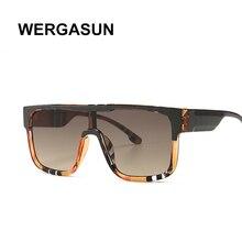 WERGASUN sunglasses women vintage retro flat top Shadow over