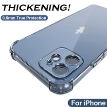 Thick Shockproof Silicone Phone Case for IPhone 11 12 Pro Max Lens Protection Case on IPhone Xr X Xs Max 6s 7 8 Plus Cases Cover