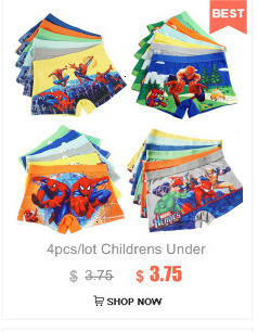 1piece Children's underwear Spotted printed baby boys kids dot short pants boxer briefs boxed panties for 2-12T