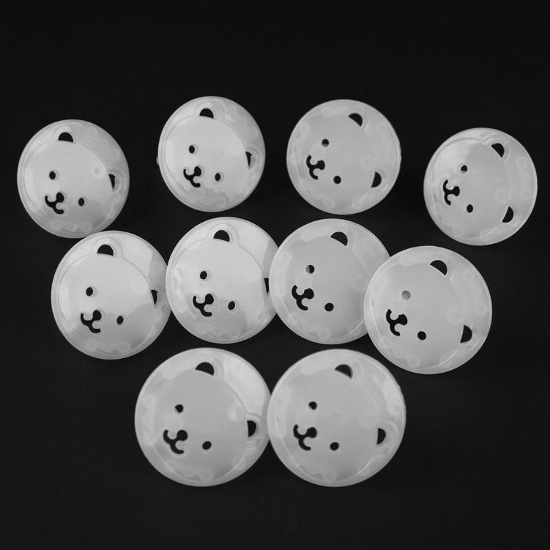 10pcs Bear EU Power Socket Electrical Outlet Protection From Children Baby Safety Anti Electric Shock Plugs Protector Cover