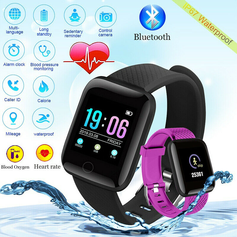 New ID116Plus Smart Men's And Women's Watch Heart Rate Sleep Monitoring Pedometer IP67 Waterproof Watch For Android IOS