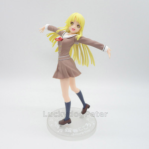 Image 5 - Anime 1/8 échelle peint Figure BanG rêve! Fête des filles! Bonjour Ver du monde heureux. Jouet figurine en PVC Kokoro Tsurumaki 21CM