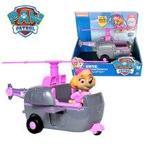Pata patrulha skye helicóptero veículo com figura collectible apollo tracker tem boxs ryder scroll figuras de ação crianças brinquedo presentes