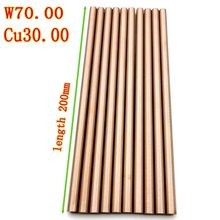 Tige d'électrode en cuivre W70Cu30, bon alliage de tungstène, longueur d'étincelle électrique 200mm