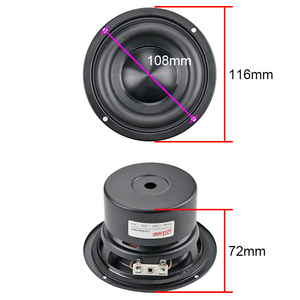 Image 4 - 4 Inch Subwoofer Hifi Speaker Black Diamond Alumina Ceramic Cap Woofer Military Magnetic Bass Soundbox 20W 50W 4 ohm 1PC