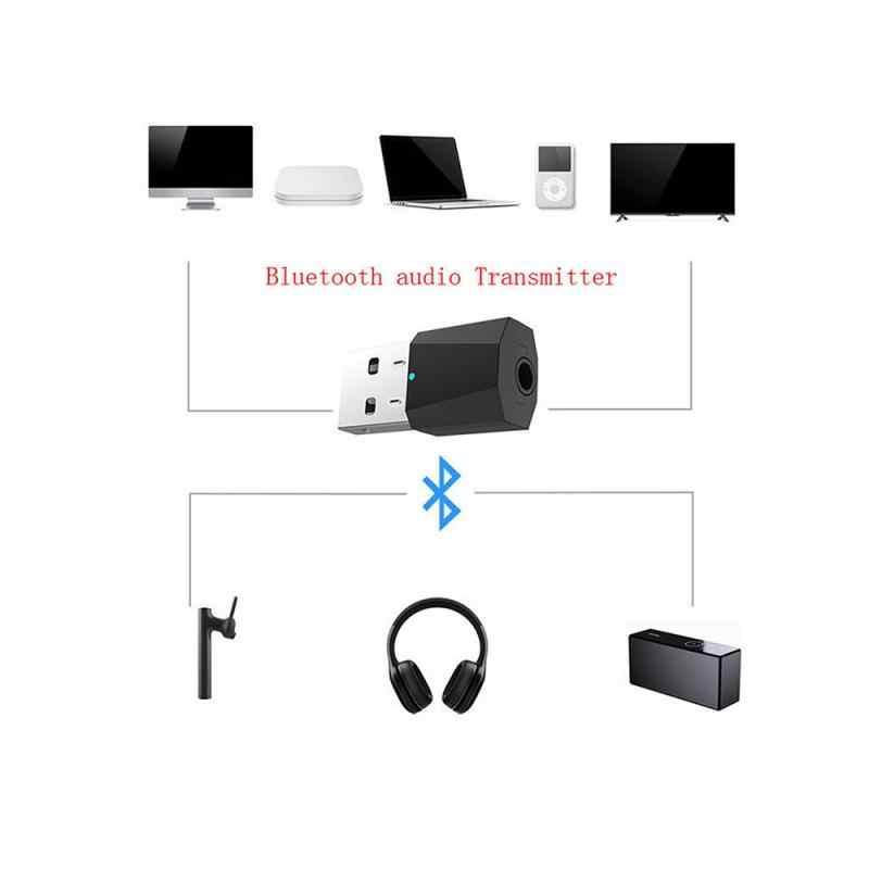 Nowy Bluetooth 5.0 4.2 nadajnik i odbiornik audio 2-in-1 Adapter telewizor z dostępem do kanałów głośnik komputerowy samochód PC głośnik z odbiornikiem Bluetooth słuchawki