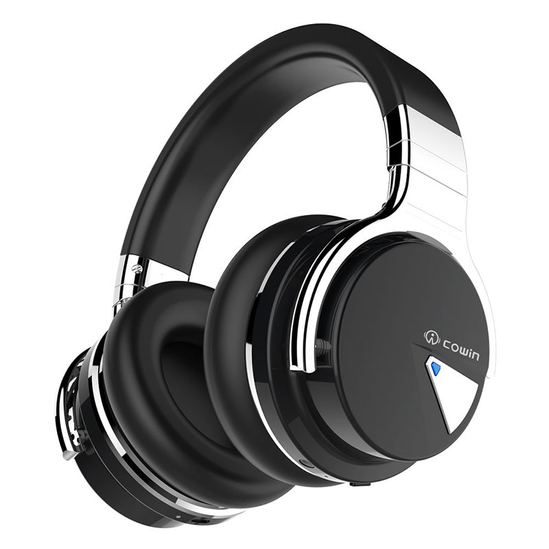 COWIN E7 Upgraded  Active Noise Cancelling Headphones Bluetooth Headphones Wireless Headset Over Ear 30 Hours Playtime with Mic