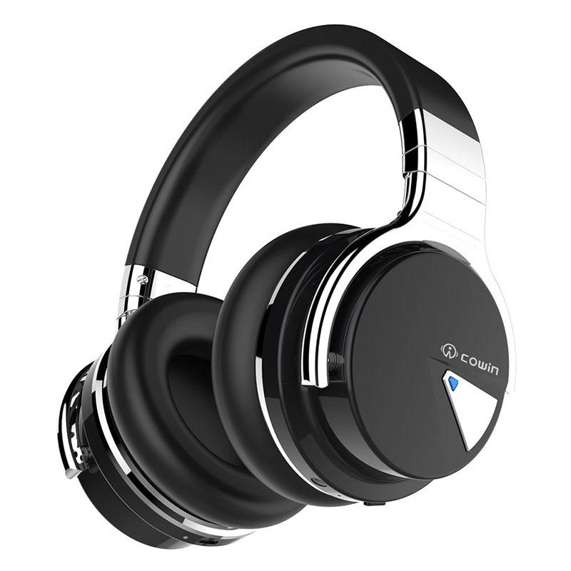 COWIN E7 [ulepszony] aktywne słuchawki z redukcją szumów słuchawki Bluetooth bezprzewodowy zestaw słuchawkowy na ucho 30 godzin odtwarzania z mikrofonem