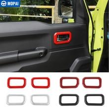 MOPAI Ca Aufkleber für Suzuki Jimny JB74 Auto Interor Tür Griff Dekoration Abdeckung Zubehör für Suzuki Jimny 2019 +