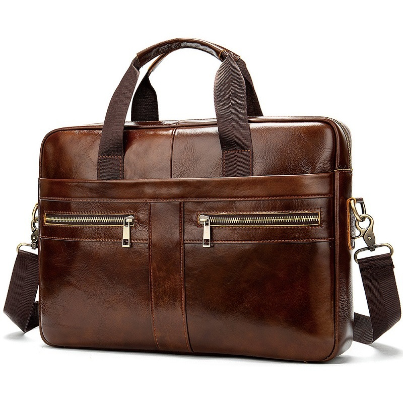 Bag Men's Genuine Leather Briefcase Male Man Laptop Bag Natural Leather For Men Messenger Bags Men's Briefcases New Style