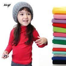 Kids Girls Turtleneck Collar T Shirt for 2-11Y