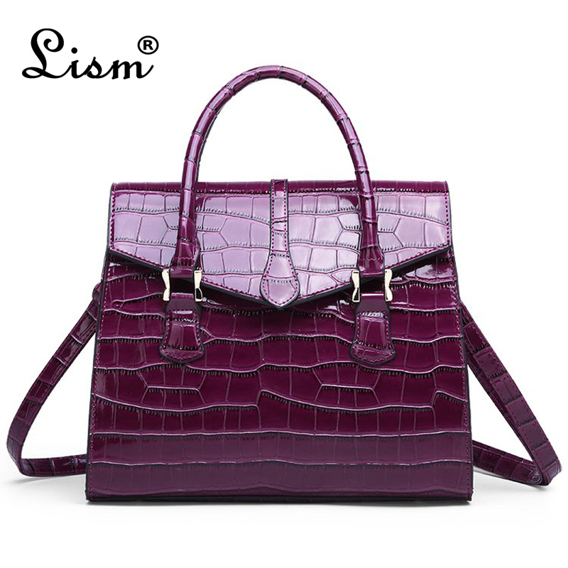 Bags For Women 2020 High Quality PU Leather Ladies Handbag Fashion Shoulder Messenger Bag Luxury Brand Designer Crocodile Bag